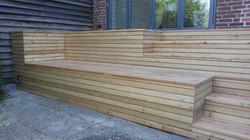 Terrasse Stufen Podest Sitzstufen Lärche