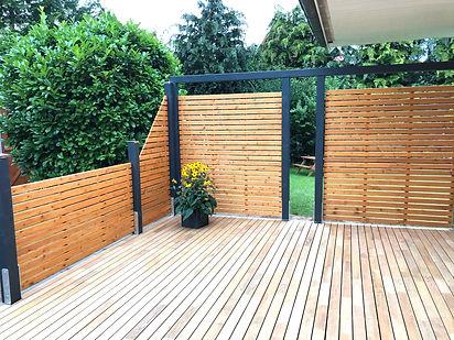 Terrasse modern exklusiv Holz schöner