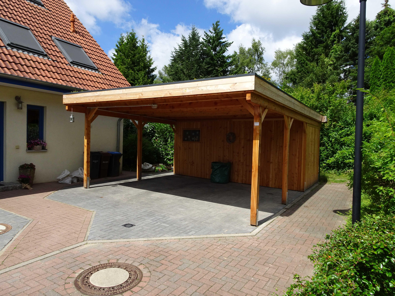 Bausatz Doppelcarport Holzblende FREESE Holz