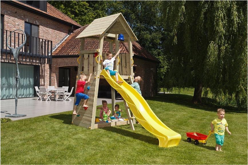 Spielturm kleiner Garten Holz Belvedere.