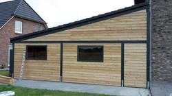Fassade modern Lärche Rhombusprofil