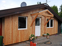 Vordach Holz Natur Haustür FREESE Holz