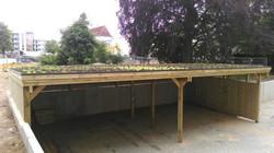Carport Reihenanlage mit Gründach