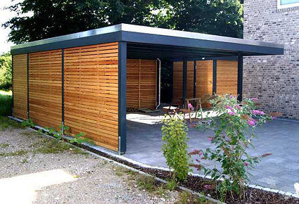 Carport modern FREESE Holz