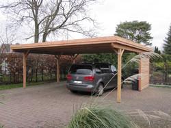 Doppelcarport Holz Lärche modern