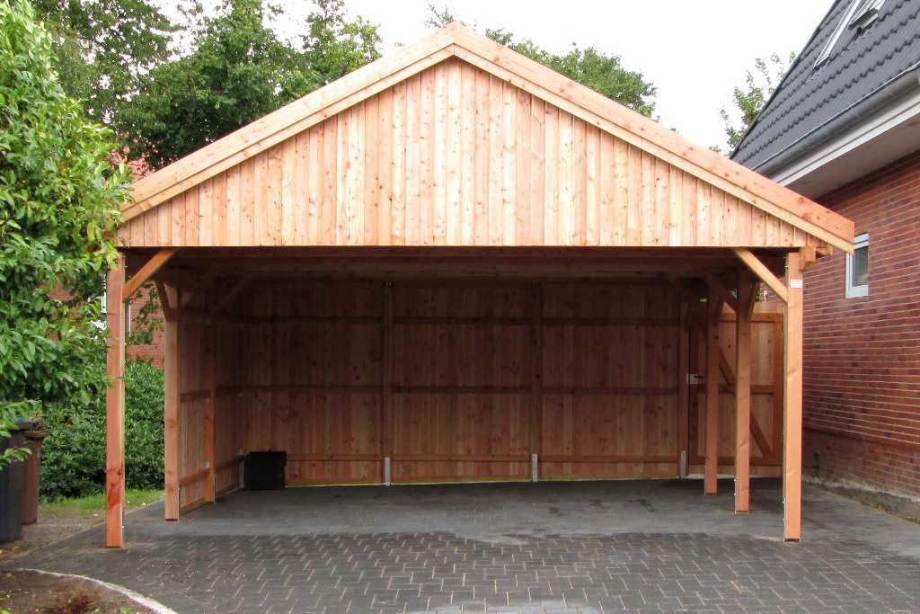 Carport Bausatz Lärche mit Satteldach