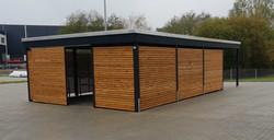 Carport Abstellraum modern Rhombusprofil