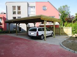 Carport vier Stellplätze Reihenanlage für Wohnblock