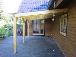 Terrassenüberdachung Holz mit Lichtplatten