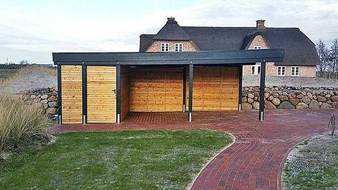 Carport Holz mit Abstellraum individuell nach Maß geplant