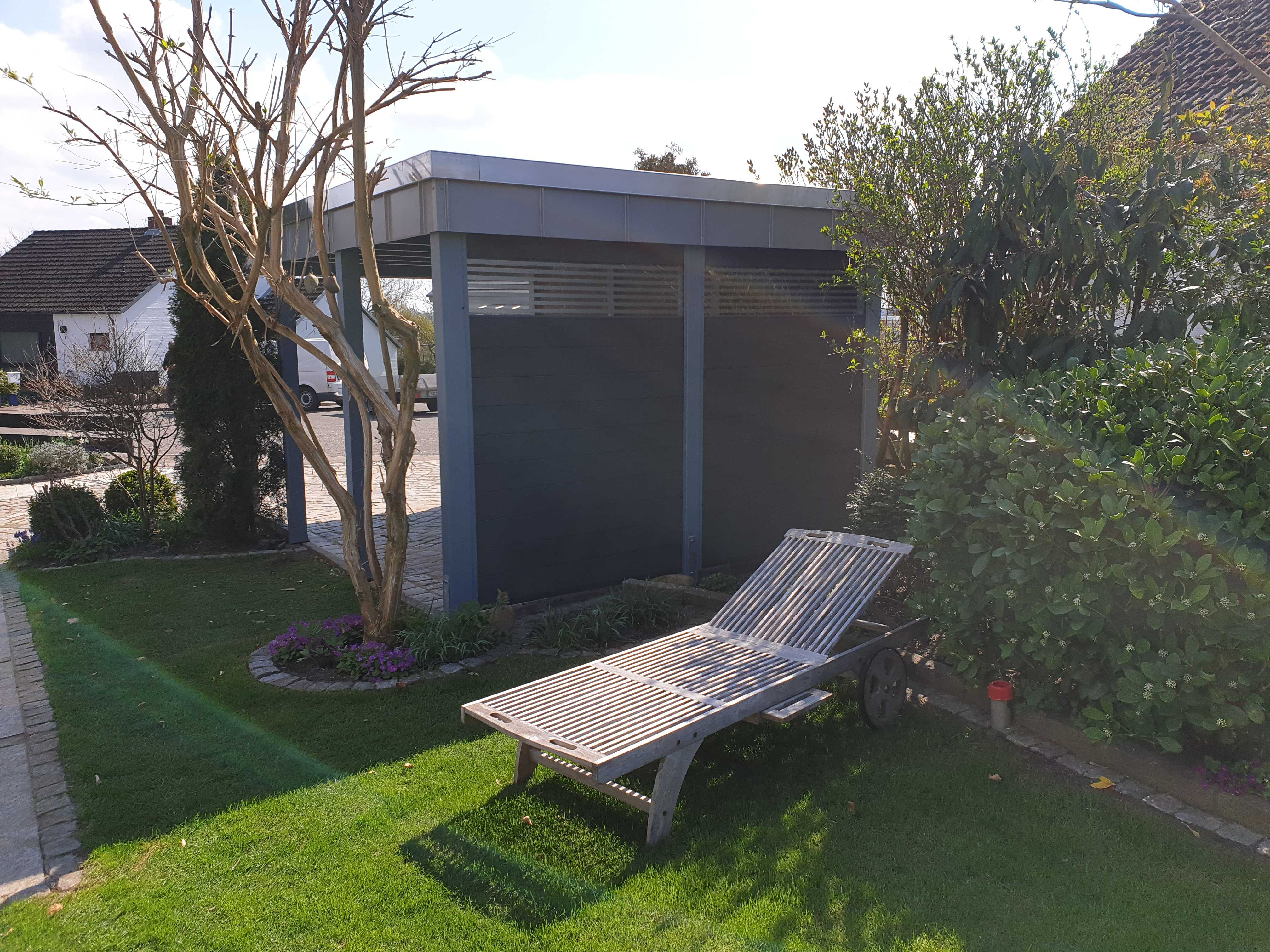 Carport modern anthrazit grau