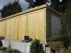 Fassade Profilholz Holzfassade Garage