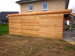 Carport Lärche Wand Massivholzblende