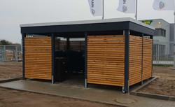 Abstellraum Geräteraum modern Holz anthrazit verkleidet