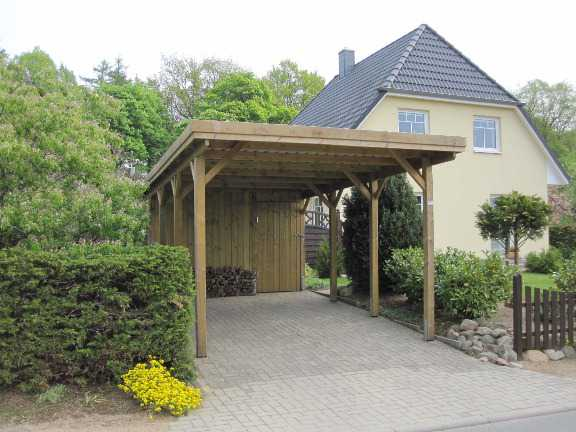 Carport KDI seitlich offen FREESE Holz