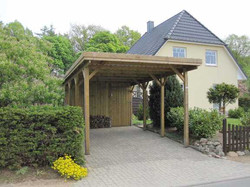 Carport KDI seitlich offen FREESE Holz