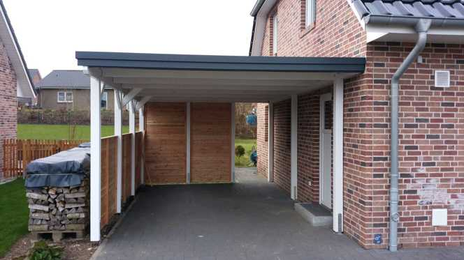 Carport CLASSIC weiß FREESE Holz