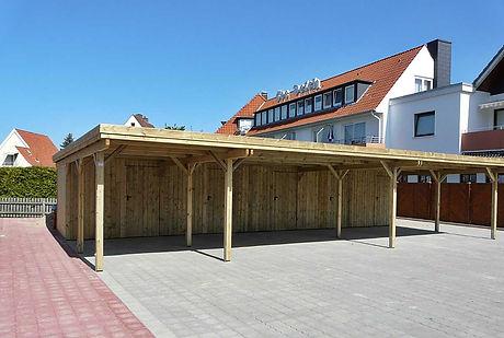Reihenanlage Carport Kiefer kdi FREESE Holz