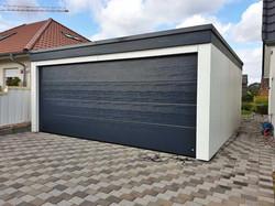 Garage Holzgarage anthrazit modern FREESE Holz