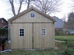 Fassade Schuppen Holz Kiefer kdi