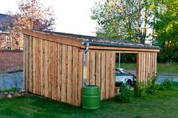 Schuppen natur mit Gründach Abstellraum FREESE Holz