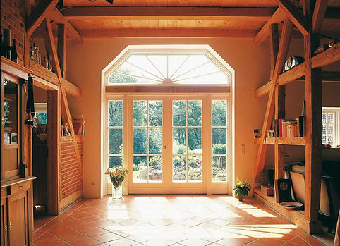 Terrassentür mit Sprossen Holz Vrogum
