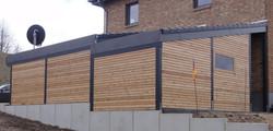 Fassade modern Anbauten Haus