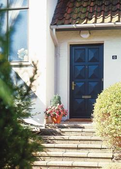 Dänische Haustür schwarz