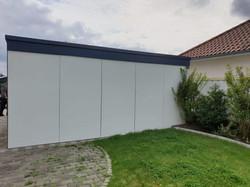 Fassade modern Schichtstoffplatten