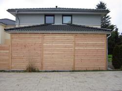 Fassade Holz Rhombusprofil modern