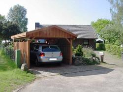 Carport Satteldach mit Gründach