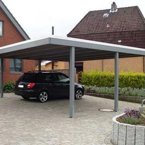 Carport grau, simples elegantes Design