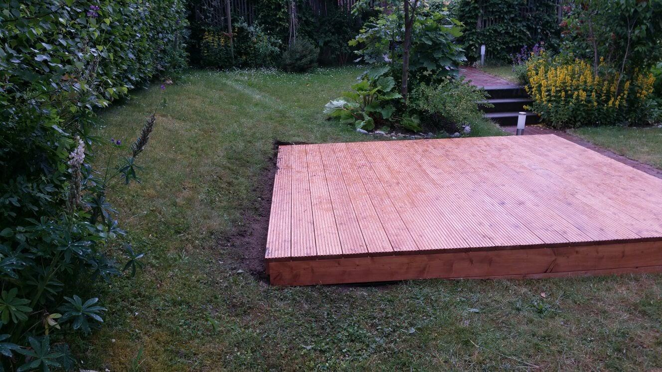 Terrasse Sitzfläche Garten Holz