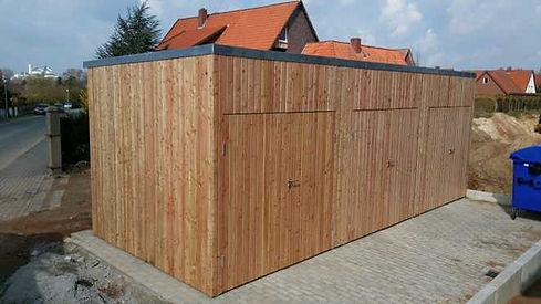Schuppen massiv aus Holz maßgefertigt FREESE Holz