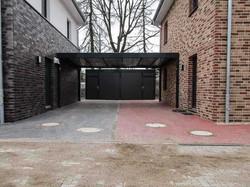 Modernes Design-Carport schwarz