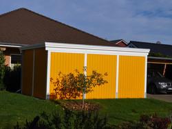Fassade gelb Profilholz
