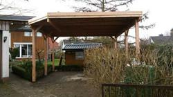 Carport Lärche mit assymetrischem Dach