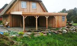 Carport Natur Flachdach FREESE Holz