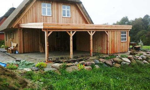 Carport Natur Flachdach FREESE Holz Kiel