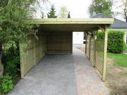 Carport KDI mit Rankgitter Holzblende