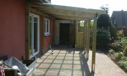 Terrassendach Holz Kiefer kdi