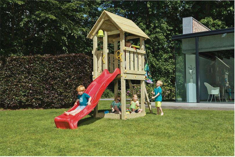 Spielturm kaufen Kiosk klein Holz günsti
