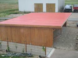 Scheune großer Carport mit Stahltrapezblech