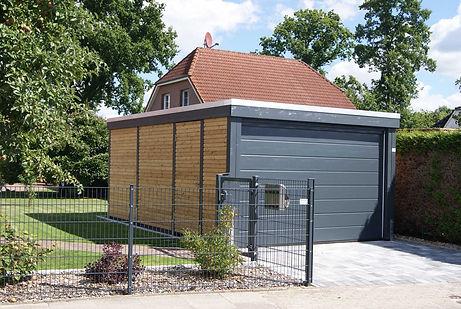 Holzgarage modern Klare Linie FREESE Holz