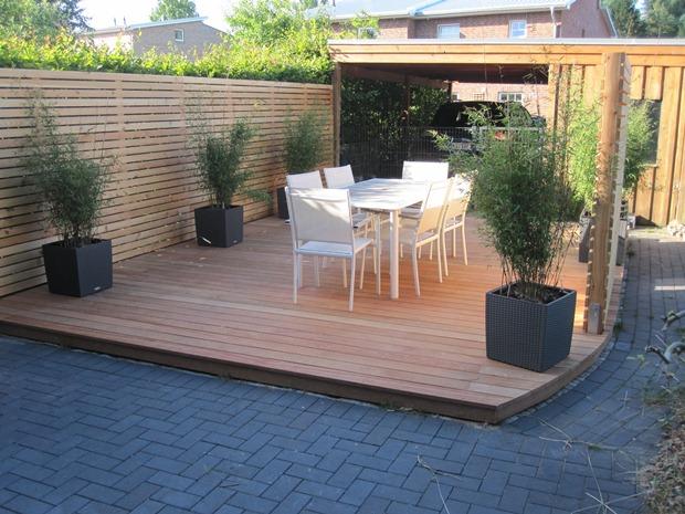 Fava Terrasse modern Holz