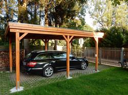 Carport Holzblende Einzelcarport CLASSIC FREESE Holz
