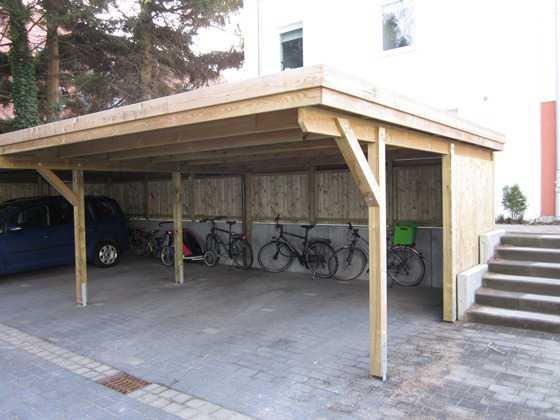 Carport KDI Holzblende Flachdach FREESE