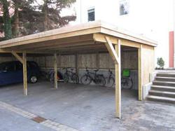 Carportanlage KDI Holzblende Flachdach FREESE Holz