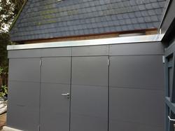 Schichtstoffplatten Blende Carport