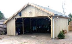 Doppelcarport Kiefer mit Abstellraum Satteldach